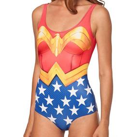 Traje De Baño Wonder Woman Lycra Leotardo