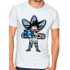 Playera O Camiseta Goku Estilo adidas Cajas Dragon Ball