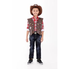Colete Cowboy,country,infantil,fantasia,festa Junina Rodeio