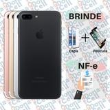 Iphone 7 Plus 32gb Prata Nf-e Brinde Película E Capa