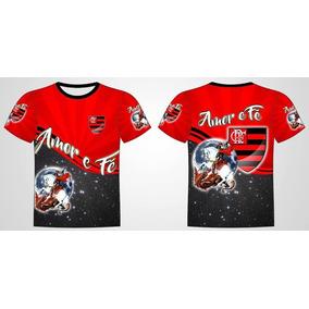 Camisa Personalizada São Jorge Guerreiro Flamengo Amor E Fé 0a62dead686de