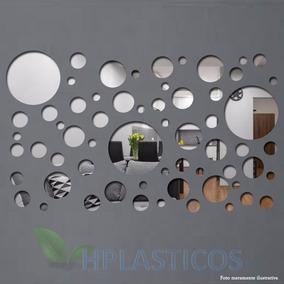 Espelho Decorativo Acrílico Conjunto Bolas/círculos 61 Peças