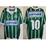 da642e9339 Camisa Oficial Palmeiras Rhumell Parmalat 10 Anos 90 - Camisas de ...