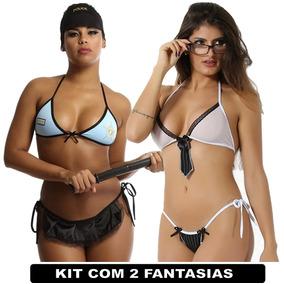 Kit Policial Americana E Executiva Lingerie Sexys Fantasias c3383c7b589