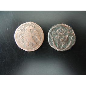 2.- Antiguas Monedas Octavo De Real 1822, 1824 Rara* Durango