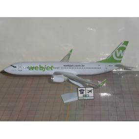 Avião Boeing 737-800w Webjet 1:141 Miniatura Maquete.