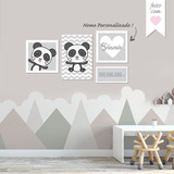 27d23d956 Placa Quadro Decorativo Infantil Urso Panda Ps 1mm