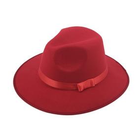 Sombrero Ala Ancha Vintage Hipster Funky Rojo D-697