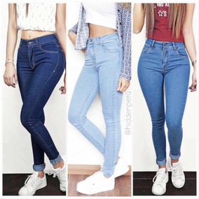 Jeans A La Cintura Tiro Alto, Mom Jeans, Casacas Jeans!.