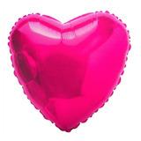 Balão Coração Pink 45cm Metalizados Kit C/ 10 Unid Vazio