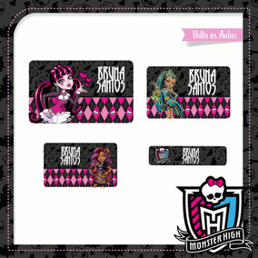 25 Etiquetas Escolares Monster High