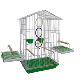 Gaiola Para Aves E Pássaros Mansos Calopsita Maritaca Verde