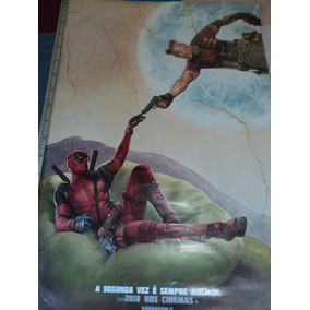Poster:cartaz:deadpool 2:cinema:93cm X 64cm:original:usado