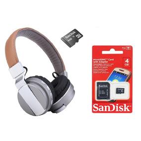 Kit Fone De Ouvido De Luxo Bluetooth C/ Microfone Cartão 4gb