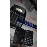 Lote 3 Calculadoras: Grande, Regla Y Mini