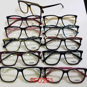 Armação Para Óculos De Grau Feminina Acetato Modelo Fd 0251 fc612d1d7f