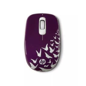 Mouse Inalámbrico Hp Z3600-morado Con Blanco Usb