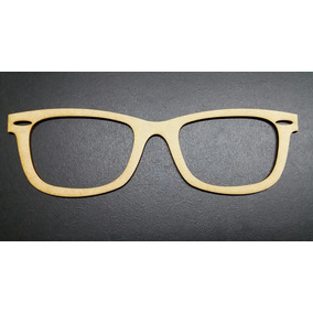 dde8e8b6dabd0 Kit 3 Óculos Vazado Aplique Decoração Mdf Cru 20 Cm Md. 03