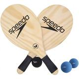 Kit Frescobol Speedo 2 Raquetes 1 Bola + 2 Bolas Speedo Azul