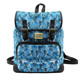 Mochila De Costas Hippie Chic Leaves Colorizi - Yangzi 85c15e16356