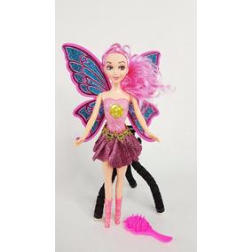 Muñeca Doll Hada Musical Y Luz Rosa