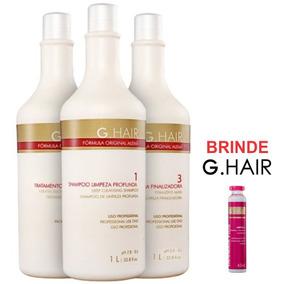 G-hair Escova Alemã Progressiva 3x1l + Ampola 45ml Brinde