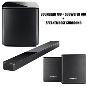 Bose 700 Subwoofer + Sound Bar + Bose Surround Sem Fio