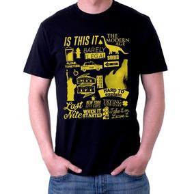 a85106eb53 Camiseta Blusa Banda The Strokes Is This It