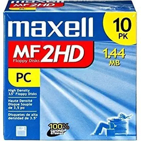 Maxell 3,5 Hd 1,44 Mb Pré-formatado Mf2hd 10-pack