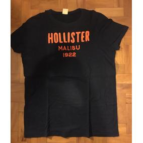Camiseta Hollister Malibu Azul Marinho Tamanho G 0fc9a1666e5eb