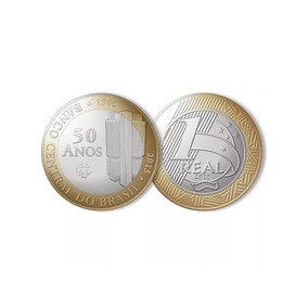 Moedas 1 Real Bc 50 Anos Banco Central 2015
