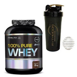 Kit 100% Pure Whey 2kg + Coqueteleira 600ml C/mola