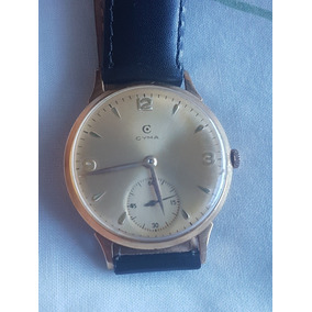 f38789dc409 Relogio Cyma Ouro 18 K Vintage Oversize