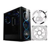Gabinete Gamer Yeyian Blade 2100 Atx Azul Cristal Templado