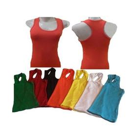 Kit Com 7 Blusas Camiseta Regata Cores Variadas + Brinde