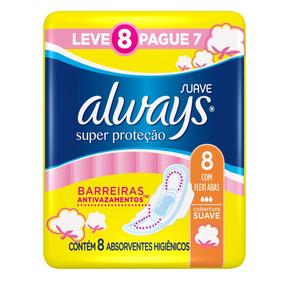 Absorvente Always Super Proteção Cobertura Suave C/abas L8p7