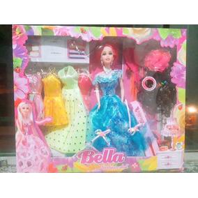 Boneca Bella Fashion Doll Com Vestidos E Acessórios