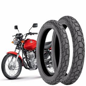 Pneu Moto Cg/titan/fan D 2.75-18+90/90-18 T C/camara Technic