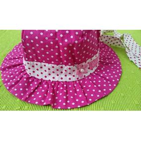 Chapéu De Bebê Menina Rosa Com Bolinhas E Laço 862bf1b8fa7