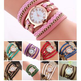 6d44bd9c516d Lote 10 Relojes Brazalete Piel Fashion Casual Dama Mayoreo