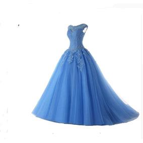 46359cd2b43 Vestido De Festa Debutante 15 Quinze Anos Princesa Azul