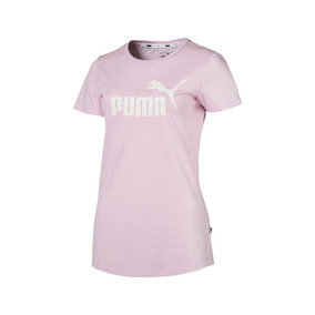 Remera Puma Moda Ess+ Logo Heather Mujer Rs