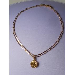 Pulseira E Medalha De São Bento Em Ouro 18 K - 18,0 Cms.