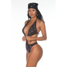 Mini Fantasia Body Motociclista Sensual Erótica Pimenta Sexy
