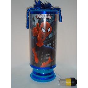 Amazing Spiderman 8 Centros De Mesa Lámparas 38cm.envío Inc