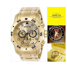 Relógio Invicta 0074 0072 Banhado Ouro 18k Original