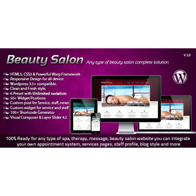 Beauty Salon - Responsive Wordpress Template Wordpress 2017
