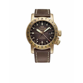 Relógio Glycine Gl0166 Airman 44 Bronze Gmt Msrp $3000usd