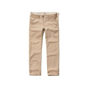 Pantalón Hollister Clásico Corte Amplio Bragueta Con Cierre