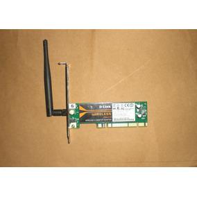 Tarjeta De Red Inalambrica Wifi Pci D-link Dwa-510 -54 Mbps